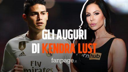 James Rodriguez, il messaggio della pornostar Kendra Lust lo mette in imbarazzo