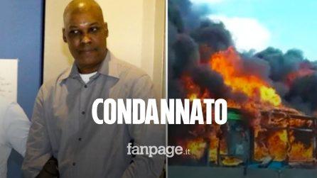 L'autista del bus incendiato a San Donato condannato a 24 anni di carcere per terrorismo