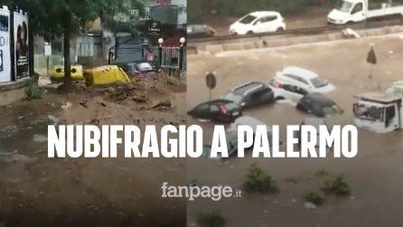 Nubifragio a Palermo, città in ginocchio: due morti annegati, blackout e allagamenti