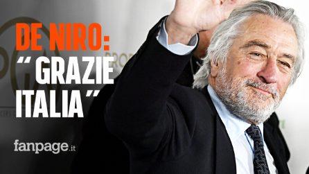 """Robert De Niro ringrazia l'Italia: """"Senza gli italiani la mia carriera non ci sarebbe stata"""""""