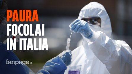 """La mappa dei nuovi focolai di Coronavirus in Italia: """"Attenzione ai casi dall'estero"""""""