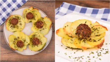 Fiori di patate e polpette: l'antipasto facile e sfizioso che sorprenderà tutti!