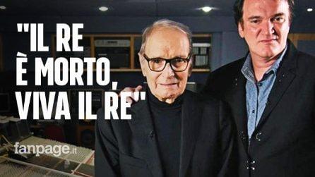 """Quentin Tarantino e l'omaggio a Ennio Morricone: """"Il re è morto, viva il Re"""""""