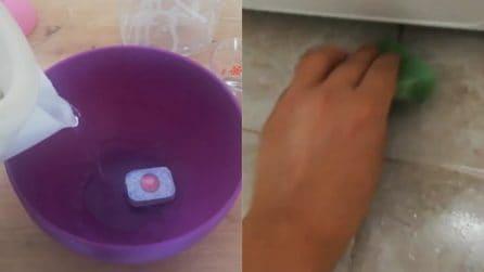 Come pulire le piastrelle della cucina con la pastiglia della lavastoviglie