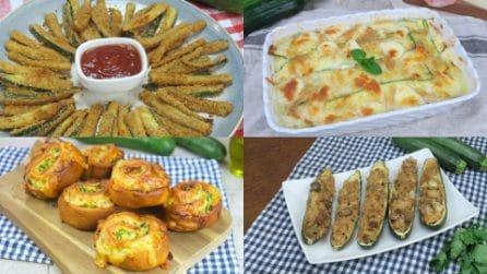 4 Ricette con le zucchine perfette come aperitivo o antipasto!