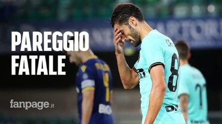Verona-Inter 2-2: pareggio fatale, i nerazzurri scivolano al quarto posto