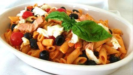 Pasta fredda alla mediterranea: la ricetta del primo piatto saporito