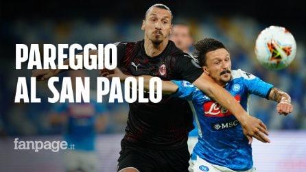 Il Napoli gioca, al Milan bastano due tiri: pareggio di rigore al San Paolo (2-2)