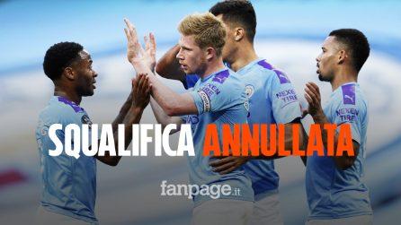 Il Manchester City giocherà la Champions: squalifica annullata, club multato di 10 milioni