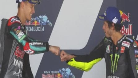 Motogp: Valentino Rossi torna sul podio a 41 anni. Vittoria a Quartararo