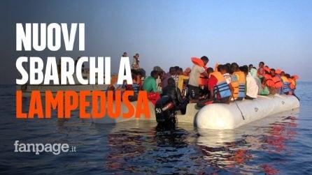 Lampedusa, nuovi sbarchi: altri 130 migranti arrivano sull'isola. L'hotspot è stracolmo