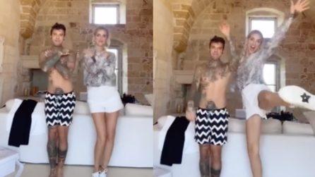 Fedez e Chiara si scatenano su TikTok, con un balletto diventato di moda