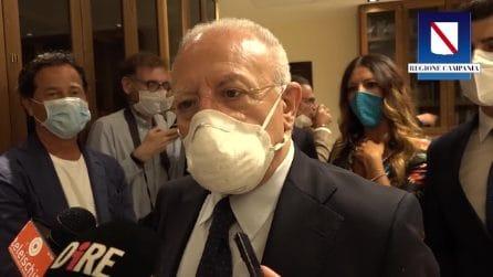"""Coronavirus Campania, De Luca: """"Contagi di importazione da Paesi a forte epidemia"""""""