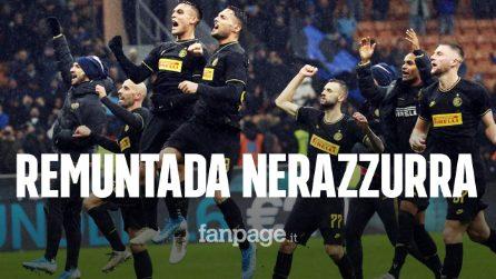 L'Inter batte la Spal 4-0: il poker porta i nerazzurri al secondo posto in Serie A