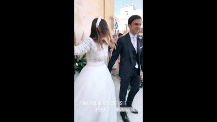 """Caterina Balivo gira i video del matrimonio della sorella Sarah: """"Sei la più bella"""""""