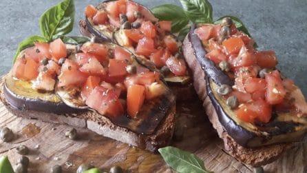 Bruschette di melanzane: la ricetta semplice, veloce e saporita