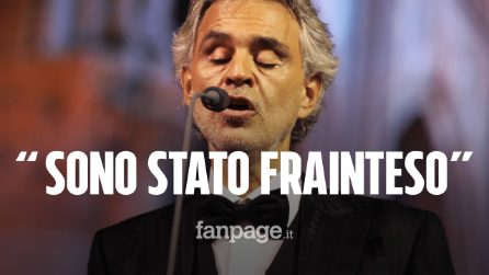 """Andrea Bocelli dopo le polemiche: """"Sono stato frainteso, io sono un ottimista per natura"""""""