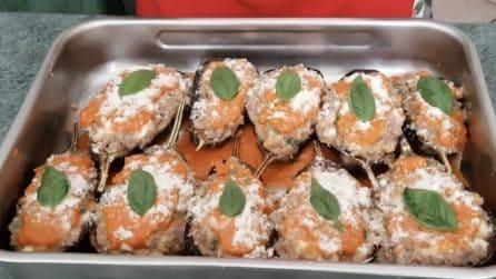 Barchette di melanzane ripiene: la ricetta del secondo piatto ricco e gustoso