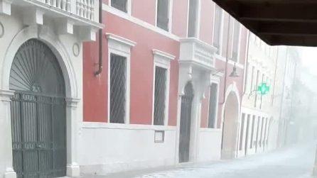 Forte maltempo nel Vicentino: disagi per temporali, vento e grandine