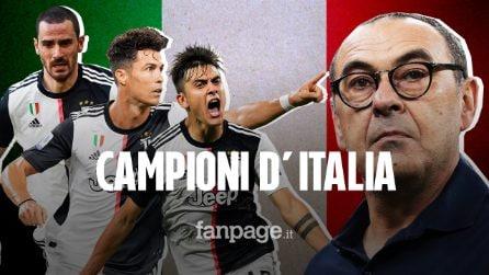 La Juventus è campione d'Italia: 9° scudetto consecutivo e prima gioia in bianconero per Sarri