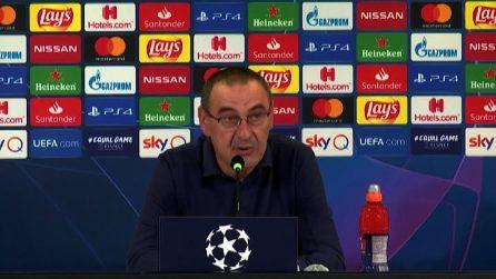 """Champions, Sarri: """"Usciti per il brutto primo tempo di Lione"""""""
