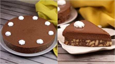 Torta cremosa al cioccolato senza cottura: pronta in pochi minuti e dal risultato sorprendente!