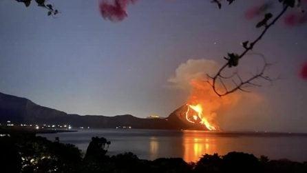 San Vito lo Capo, in fiamme il Monte Cofano: le immagini dell'incendio
