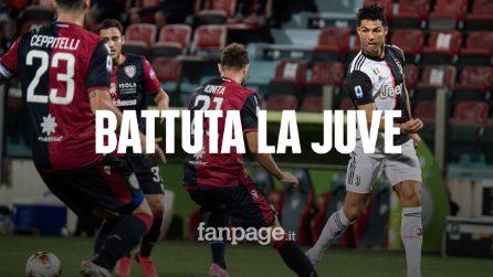 La Juventus sconfitta dal Cagliari 2-0: i bianconeri finiti ko dopo la vittoria dello scudetto