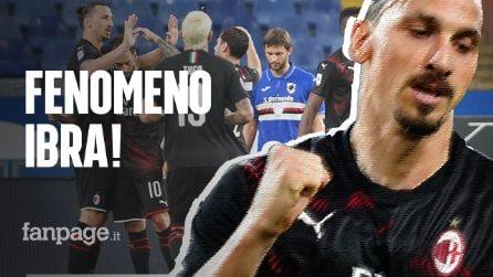 Il Milan batte 4-1 la Sampdoria: Ibrahimovic dà spettacolo, i rossoneri non si fermano più