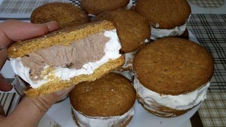 Gelato biscotto doppio gusto: la merenda fresca e super golosa