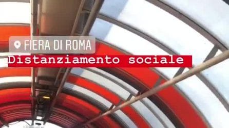 Maxi assembramento alla Fiera di Roma per il test d'ingresso alla facoltà di Medicina