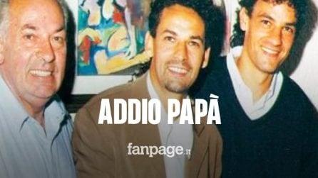"""Roberto Baggio, morto a 89 anni il papà Florindo: sperava che il """"Divin Codino"""" diventasse ciclista"""