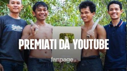 Costruiscono strutture primitive nella giungla, The Survival ricevono pulsante d'oro di Youtube
