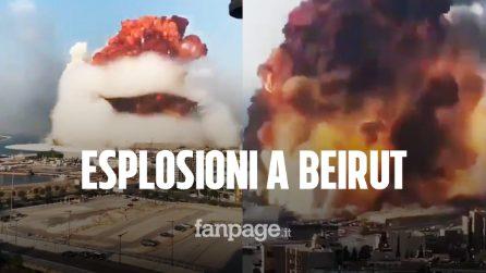 Beirut, due potenti esplosioni devastano la città: morti e feriti sotto le macerie