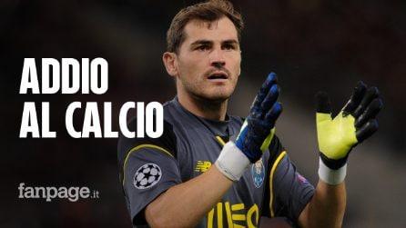 """Iker Casillas dice addio al calcio: """"Ho vissuto un sogno, il mio è stato un bel viaggio"""""""