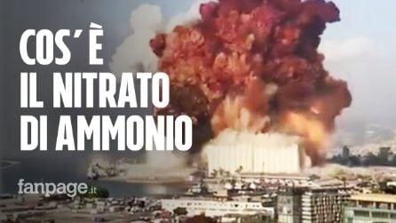Beirut, cos'è il nitrato di ammonio che avrebbe causato la terribile esplosione al porto