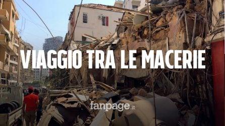 """Esplosione Beirut, viaggio di un italiano tra le macerie: """"Spettacolo desolante, tutto distrutto"""""""