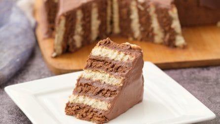 Torta di biscotti bicolore: facile da fare e golosissima!