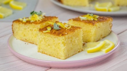 Lemon squares: how to make them fluffy!
