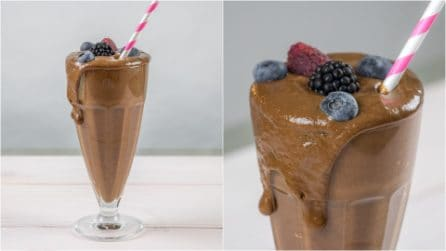 Chocolate banana smoothie: ready with just 3 ingredients!