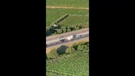 Assalto a un furgone portavalori nel Foggiano, A14 bloccata