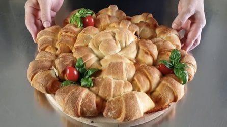 Focaccia croissant: la ricetta rustica buona e originale