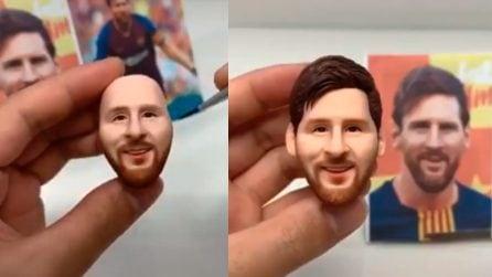 L'artista in grado di ricreare Messi con la plastilina: è identico