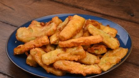 Deep fried zucchini: easy and quick to make!