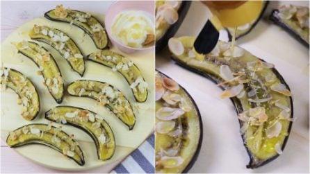 Banane al forno con mandorle e miele: la merenda golosa e salutare!