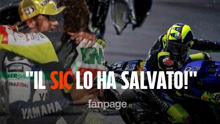 """Valentino Rossi incidente sfiorato, il """"dottore"""" salvo per miracolo: """"Marco Simoncelli l'ha salvato"""""""