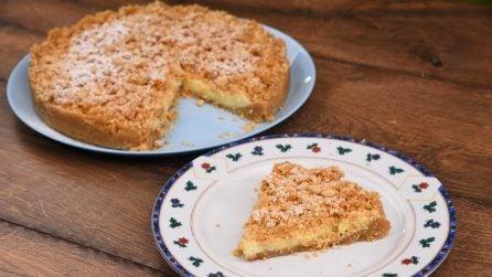 Sbriciolata con crema alla vaniglia: il dolce che vi conquisterà al primo morso!