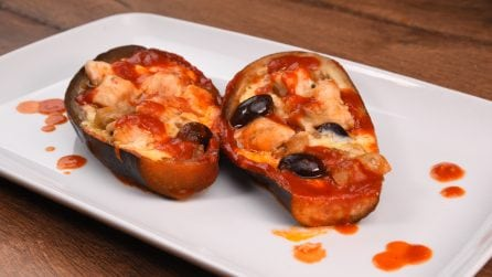 Chicken stuffed eggplant: an explosion of flavors in every bite
