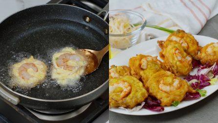 Frittelle ai gamberetti: sfiziose e saporite pronte in pochi minuti!
