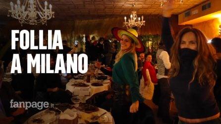 In 90 violano le regole, cenano e ballano in un ristorante a Milano: la Digos li identifica